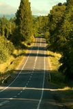 Empty road in southern Chile. In the Araucania Region stock photos