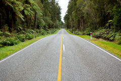 Empty Road Stretching Out Stock Photo