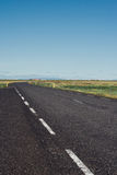 Empty road on a sunny day in Iceland Stock Image