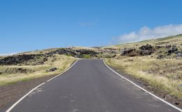 Empty road on a sunny day. In Maui Hawaii Stock Images