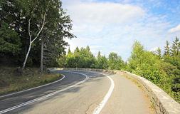 Empty road in Tatra mountains Royalty Free Stock Photo