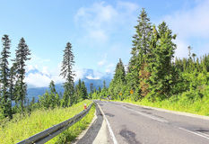 Empty road in Tatra mountains Royalty Free Stock Image