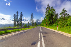 Empty road in Tatra mountains Stock Image