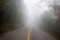 Empty road and there are foggy around Royalty Free Stock Image