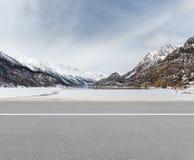 Empty road in tibetan plateau Stock Photo