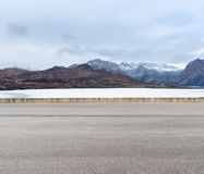 Empty road in tibetan plateau Stock Image