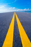 Empty road to the sky.  Royalty Free Stock Images