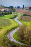 Empty road at the Toscana Royalty Free Stock Photography