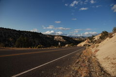 Empty road in Utah Royalty Free Stock Images