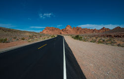 Empty Road Valley of Fire Highway Stock Photos