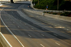 Empty roads. Yom Kipur Israel Stock Photos