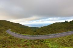 Empty roads in the countryside - Azores - Portugal Stock Photography