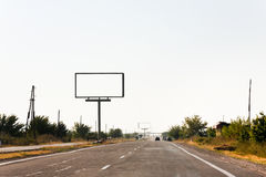 Empty roadside billboards along highway Royalty Free Stock Photos