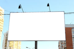 Empty roadside billboards at city Royalty Free Stock Image