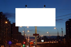 Empty roadside billboards at evening Royalty Free Stock Photography