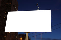Empty roadside billboards at evening in city Stock Image