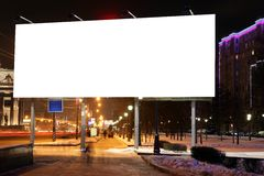 Empty roadside billboards at evening Royalty Free Stock Photos
