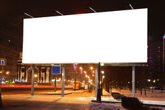 Empty roadside billboards at evening in city Royalty Free Stock Image