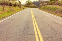 Empty roadway Royalty Free Stock Photos