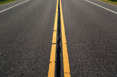 Empty roadway Stock Photography