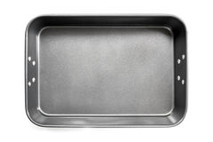 Empty Roasting Pan Top View Isolated Stock Image