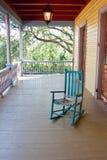 Empty rocking chair stock photos