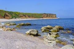Empty rocky beach Stock Photography