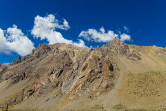 Empty rocky mountains near Aconcagua peak Royalty Free Stock Images