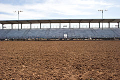 Empty rodeo arena