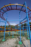 Empty Roller Coaster under the blue sky Stock Images
