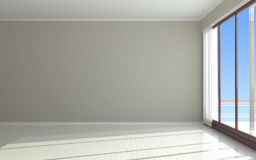 Empty room. Empty light room - 3d render Royalty Free Stock Image