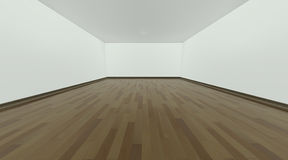 Empty room. With white walls and wooden floor Royalty Free Illustration