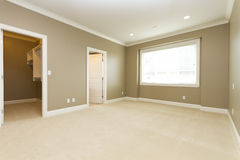 Empty room. Vacant bedroom with an empty closet Stock Photography