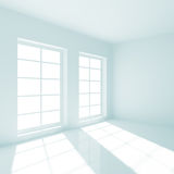 Empty Room. 3d Illustration of Empty Room with Windows Royalty Free Stock Photography