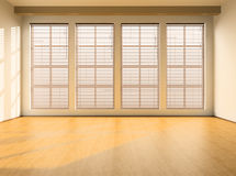Empty room. With windows and a parquet floor Royalty Free Stock Photography