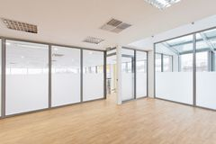 Empty room. Empty office room with daylight stock photography