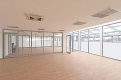 Empty room. Empty office room with daylight royalty free stock photography