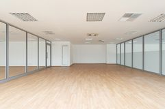 Empty room. New office empty room white walls stock image