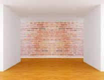 Empty room. With red bricks Stock Image