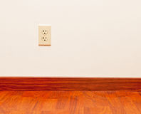 Empty Room. An empty room in a home, showing an electrical outlet Royalty Free Stock Photography
