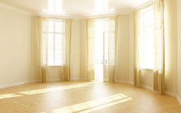 Empty room. Computer rendered photo realistic empty room Stock Images