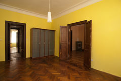 Empty room. Picture of a yellow empty room Stock Images