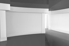 Empty Room. Horizontal computer illustration Royalty Free Stock Images