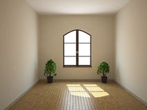 Empty room. A small empty room with a window Royalty Free Stock Photos