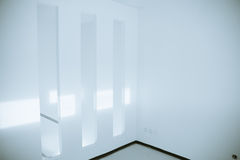 Empty room. Fragment of the empty room interior after renovation Stock Photo