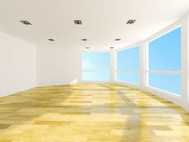 Empty room. With large windows Royalty Free Stock Photos