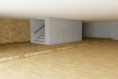 Empty room in 3d Royalty Free Stock Images