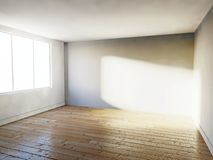 Empty room, 3d house interior Stock Photography
