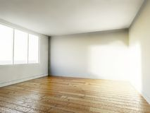 Empty room, 3d house interior Stock Images