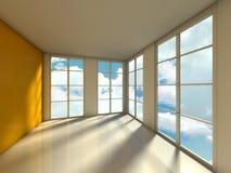 Empty room, 3d house interior Royalty Free Stock Photo